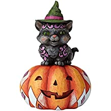 Enesco Jim Shore Heartwood Creek Pint Sized Black Cat onPumpkin