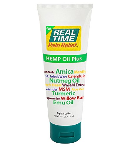 Real Time Pain Relief Hemp Oil Plus (4 Ounce Tube)