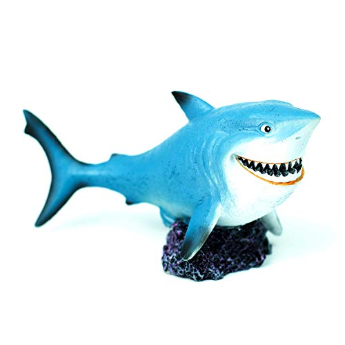 YSLDSNX Aquarium Ornaments Fish Tank Supplies Decorations Landscape Scenery Bookcase Table Accessories Resin Decor Shark Handmade (Fish Shark Tank)