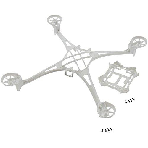 Traxxas LaTrax Alias Quadcopter WHITE MAIN FRAME UPPER & LOWER w SCREWS