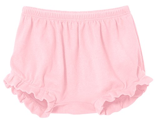 - City Threads Baby Girls' and Boys' Ruffled Diaper Covers Bloomers Soft Cotton Fashionable Cute, Pink, 9-12Months