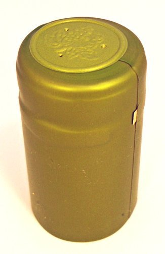 PVC Heat Shrink Capsules With Tear Tabs For Wine Bottles - 60 Count (Metallic Lime Green) LD Carlson