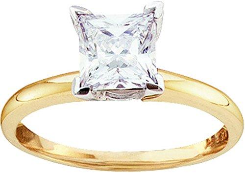 0.47 Ct Princess Diamond - 9