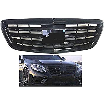 MERCEDES BENZ S-CLASS S550 S65 STYLE S63 2015 2016 2017 2018 ALL BLACK GRILLE GLOSSY CUSTOM MERCEDES BENZ NEW W222#261E