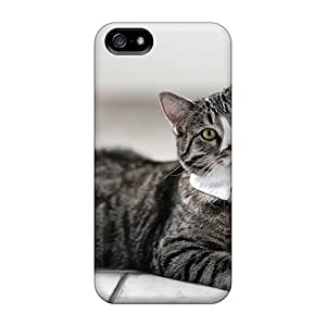 FashionE-Space Design High Quality Cat Tie Cover Case With Excellent Style For Iphone 5/5s