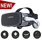 [ 2019 New Version ]VR Headset,Virtual Reality Headset,VR SHINECON VR Goggles for TV, Movies & Video Games - 3D VR Glasses Compatible with iOS, Android and Other Phones Within 4.7-6.0 inch
