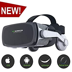 [New Version ]VR Headset,Virtual Reality Headset,VR SHINECON VR Goggles for Movies, Video,Games – 3D VR Glasses for Iphone, Android and Other Phones Within 4.7-6.2 inches
