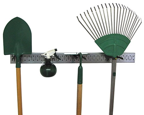 Wall Control 30-GPS-0332 GVB Metal Pegboard Strip Garden Tool Organizer Rail Kit, - Organizer Garden Tool Hanging