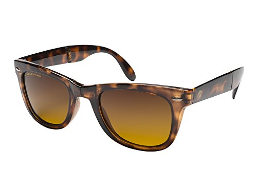 Eagle Eyes Risky Polarized Sunglasses - Foldable Tortoise Wayfarer - Business Glasses Risky