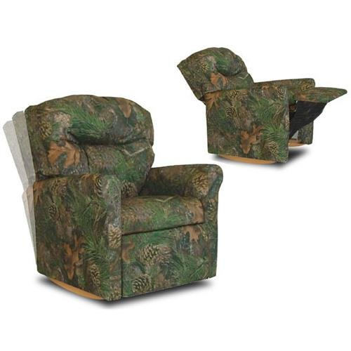Contemporary Camouflage Child Rocker Recliner (Green Child Recliner Chair)