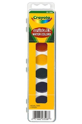 20 Pack CRAYOLA LLC FORMERLY BINNEY & SMITH ARTISTA II 8 WATER COLORS W/BRUSH ()