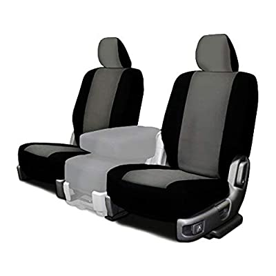 CarsCover Custom Fit 2015-2020 Ford F150 F250 F350 Pickup Truck Neoprene Car Front Seat Covers Gray & Black Sides Driver & Passenger Cover: Automotive