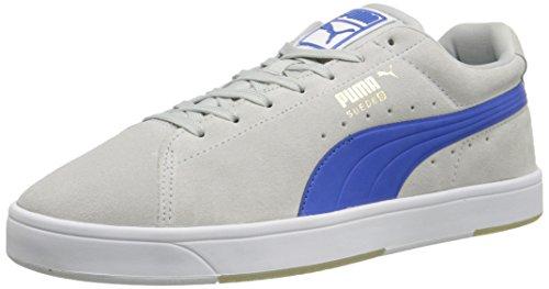Puma Sneakers Heren Suède Vetersluiting In Sneakers Grijs Violet / Sterk Blauw