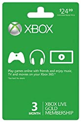 Xbox 360 Live Subscription Gold Card by Microsoft Software