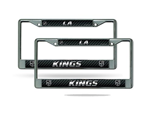 Rico Los Angeles Kings NHL Chrome Metal (Set of 2) License Plate Frame Set ()