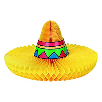 Fiesta Sombrero Honeycomb Centerpiece | Party Decoration: Toys & Games