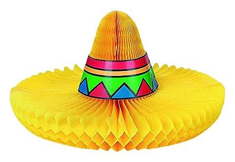 Fun-filled Fiesta Cinco de Mayo Party Sombrero Honeycomb Centerpiece Decoration, Paper, 10