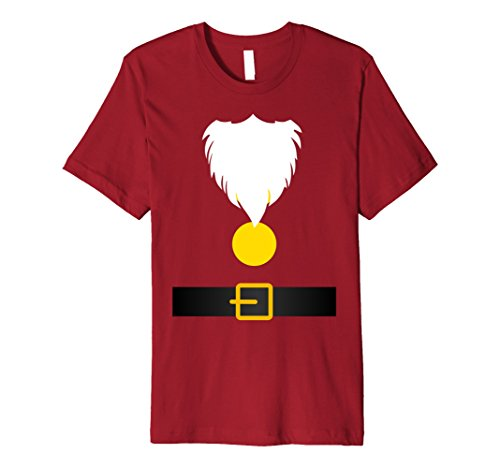 Mens Funny Dwarf Costume T-Shirt for Halloween or Christmas Large Cranberry ()