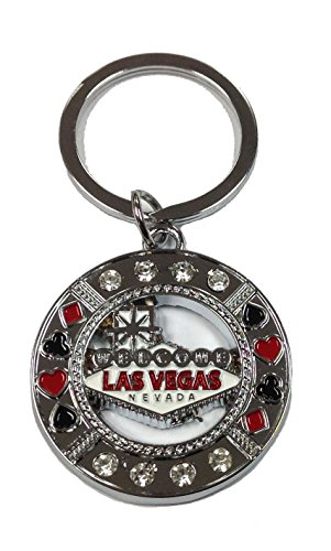 Key Chain Las Vegas Sign Suited/Gems New Souvenirs