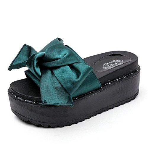 Clear Platform Sweet Shoes - Kyle Walsh Pa Wedges Sandal for Women,Sweet Bow Outdoor Indoor Platform Open Toe Slides Shoes