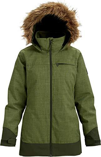 Burton Women's Lelah Jacket, Clover Heather/Forest Night, Medium