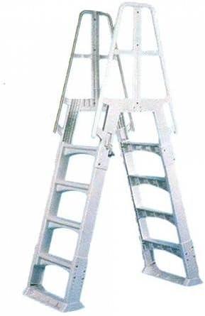 Cpa piscinas – Escalera doble (resina ajustable 122 – 137 cm ...