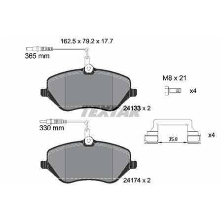 Textar 2391401 Bremsbelagsatz Scheibenbremse