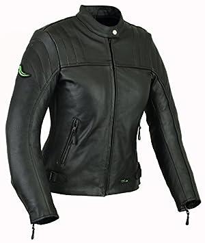 RIDEX LJ6 chaqueta de piel de moto, mujer: Amazon.es: Deportes y aire libre