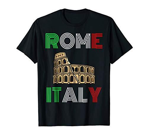Rome Colosseum Italy Souvenir T-Shirt | Tourist Flag ()