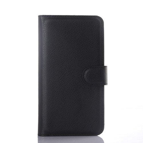 Manyip Funda Alcatel One Touch POP 2(5.5) premium OT7044,Caja del teléfono del cuero,Protector de Pantalla de Slim Case Estilo Billetera con Ranuras para Tarjetas, Soporte Plegable, Cierre Magnético( B