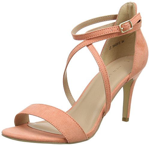 New Look Women's Sticked Ankle Strap Heels Pink Light Coral