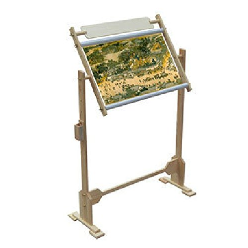 Cross Stitch Embroidery Wooden Floor/Tabletop Tapestry Stand Frame 3 Sizes (9ct 50x40x30cm) ABLERHOME