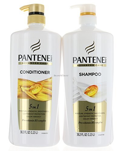 Set Pantene Advanced Care Shampoo And Conditioner 5 In 1 Moisture  Strength  Smoothness  Pro Vitamin B5 Complex 38 2 Fl Oz Each