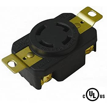 nema l15-30r locking receptacle 250v, 30a by powertronics connections (tm)