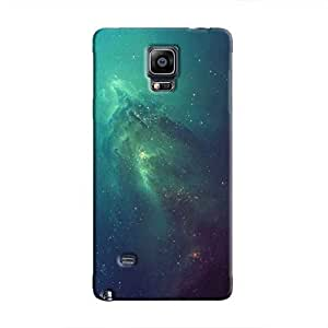 Cover It Up - Blue Space glow Galaxy Note 4 Hard Case