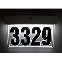 EDGE LIT ACRYLIC ADDRESS SIGN LED LIGHTED ADDRESS PLAQUE ILLUMINATED HOUSE NUMBER LED LIGHTED ADDRESS SIGN