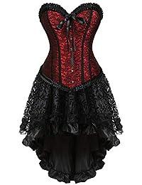 79c5dfe9423 Steampunk Corset Skirt with Zipper