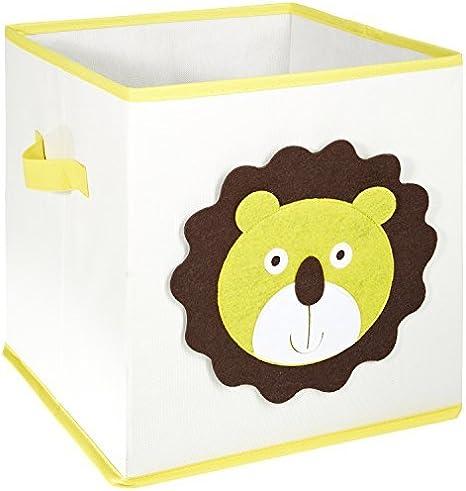 LOMOS caja para juguetes con diferentes motivos de animales y mucho espacio para almacenar (30x 30x 30cm): Amazon.es: Bebé