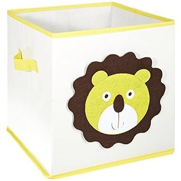 FABELBUNT® Caja para juguetes con diferentes motivos de animales y mucho espacio para almacenar (30x 30x 30cm) Mercatura MWH-3036