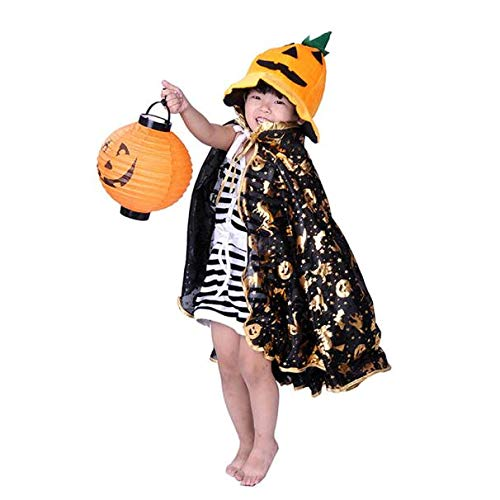 UONQD Halloween costume Golden Pumpkin shawl(Free Size,Gold)