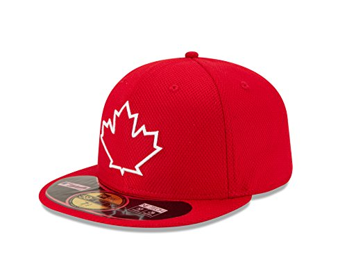 MLB Toronto Blue Jays Men's Authentic Diamond Era 59FIFTY Fitted Cap, 7 5/8, Red