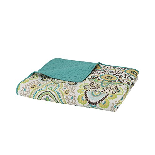 (Intelligent Design  Tasia Luxury Oversized Quilted Throw Green 6070    Premium Soft Cozy Microfiber For Bed, Coach or Sofa)