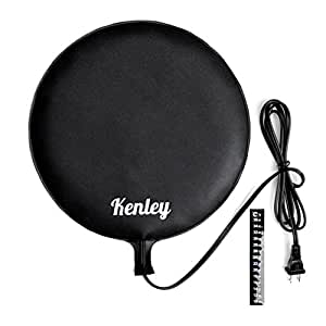 "Kenley Fermentation Carboy Heater - Kombucha Heating Pad 12"" - Homebrew Warmer Kit with Built-in Temperature Control - Brew Vessel Warming Mat for Beer Wine Tea Home Brewing - Consistent Radiant Heat"