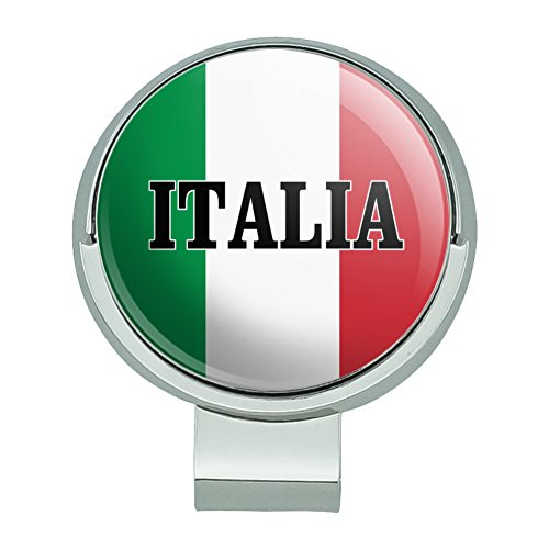 (GRAPHICS & MORE Italia Italy Italian Flag Golf Hat Clip with Magnetic Ball Marker)