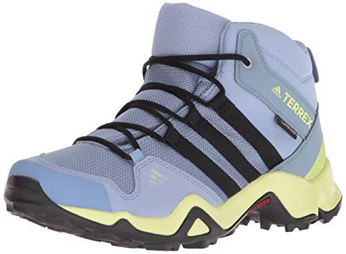 uk cheap sale new arrival best shoes adidas outdoor Unisex Terrex AX2R MID CP K, Chalk Blue/Black/SEMI Frozen  Yellow, 3.5 Medium Youth US Big Kid