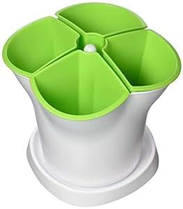 Altuna 2384000-22Cm Herb Pot Verde-Blanco