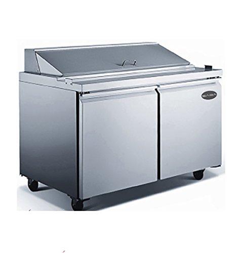 "Price comparison product image Saba Air SPS-60-16 Standard Top 60"" Sandwich Salad Prep Table with pans"