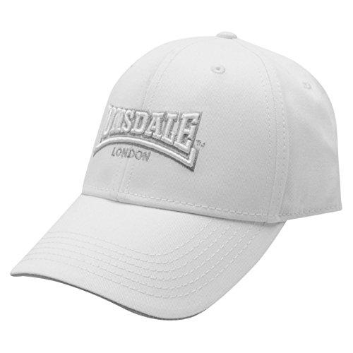 Lonsdale - Gorra de béisbol - para Hombre Blanco Blanco Talla única