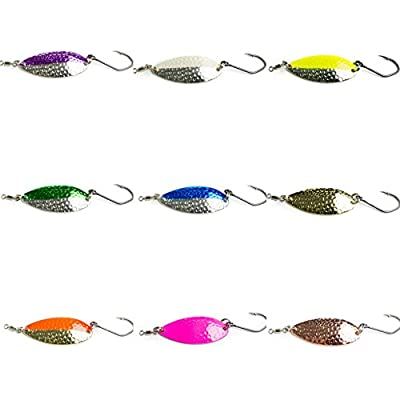 Prime Lures Casting Fishing Spoons 5 Pack. Two sizes 2/5oz, 5/8oz. Slays Salmon, Steelhead, Bass, Trout. Great action