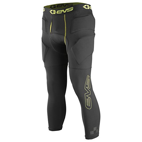 EVS Sports Unisex-Adult Tug Bottom Impact 3/4th Pants (Black/Hi-Viz, X-Large/XX-Large) by EVS Sports